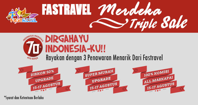 Fastravel Merdeka Triple Sale