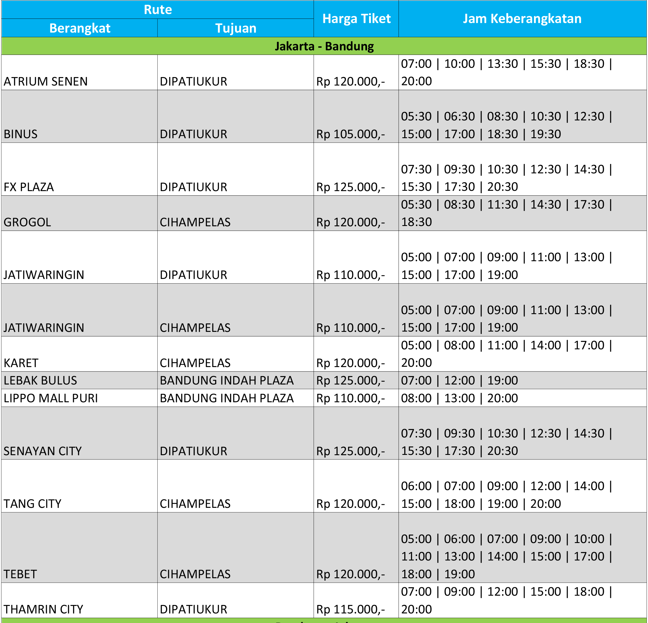 Info Jurusan Harga Tiket Dan Jadwal Daytrans Blog