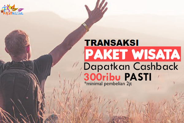 Peluang usaha Promo Cashback Transaksi paket Wisata