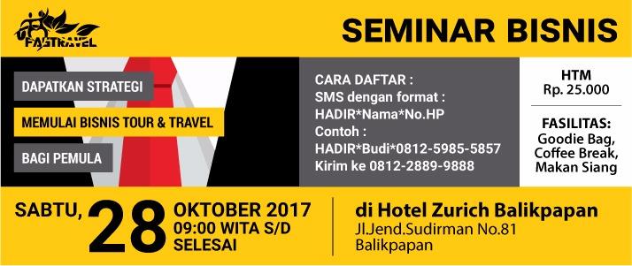 Seminar memulai Bisnis Tour Travel bagi pemula