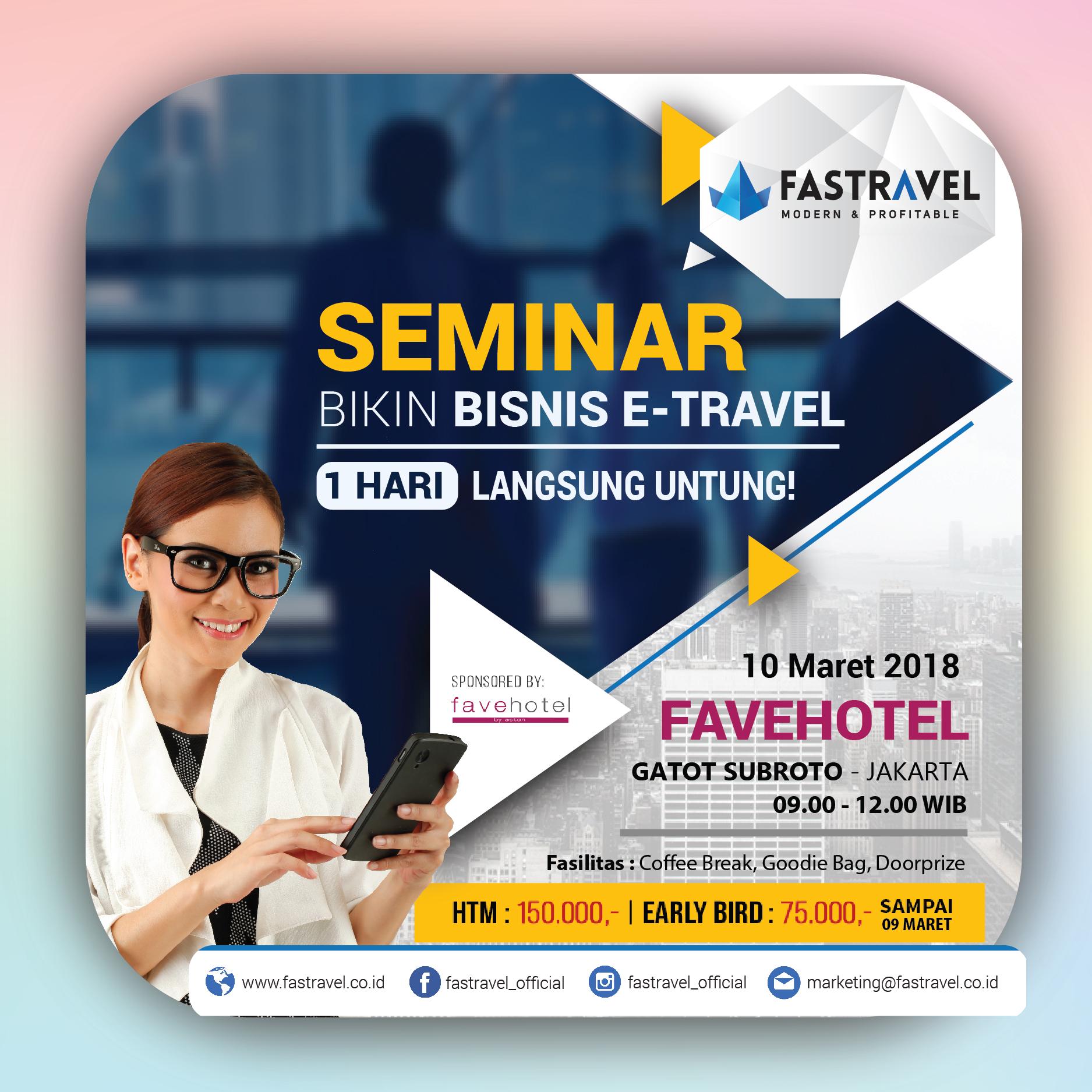 Seminar Bisnis Tour & Travel Maret 2018